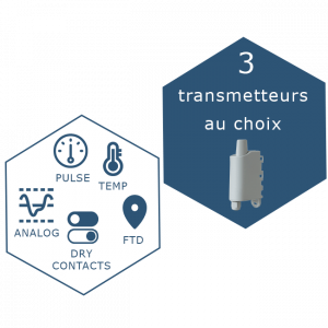 IoT Solution : Toolbox connectée LoraWan avec le choix de 3 capteurs, Smart Indsutry, Smart Building, Smart City