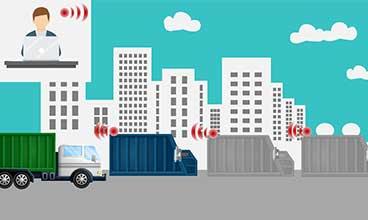gestion compacteurs adeunis smart city